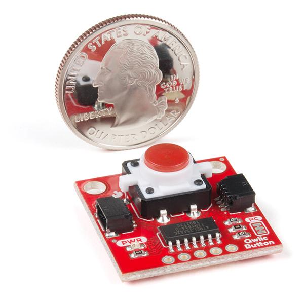 SparkFun buton LED rosu cu Qwiic 3