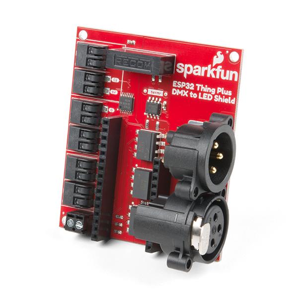 SparkFun ESP32 Thing Plus shield DMX la LED [0]