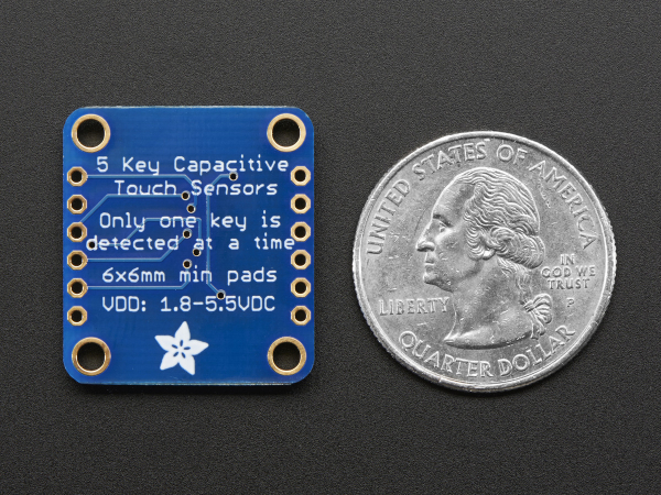 5-Pad Capacitive Touch Sensor Breakout - AT42QT1070 4
