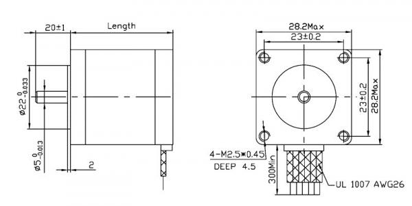 Motor stepper bipolar, 200 pasi, 4.5V, 0.67 A/faza 1