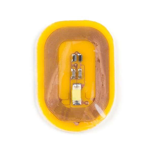 Sticker pentru unghii cu LED si NFC - Alb (5 buc.) 2