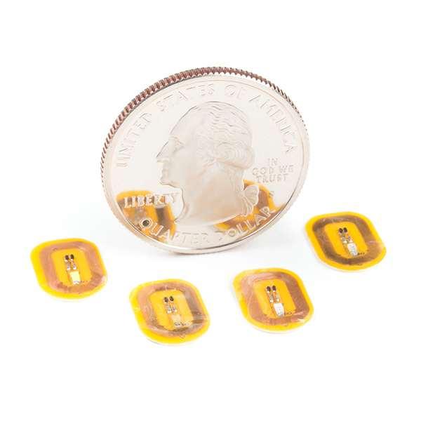 Sticker pentru unghii cu LED si NFC - Alb (5 buc.) 4