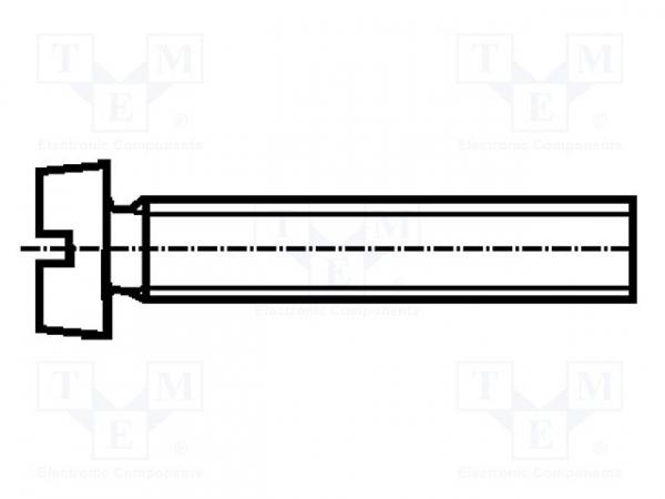 Surub cu cap cilindric, canelat, Bossard 1122908 [0]