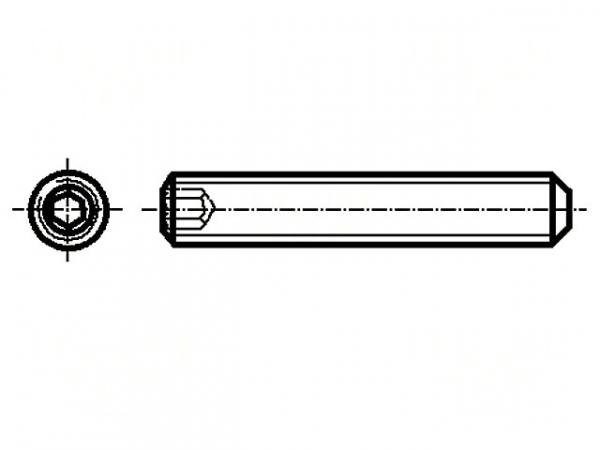 Set surub otel M4 x 10mm fara cap, set  10 buc [0]