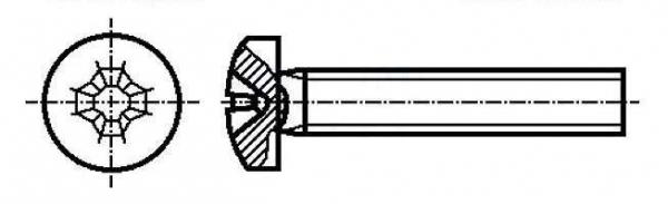Set surub 4 mm (M4) X 16 mm (10 bucati) cap T [0]