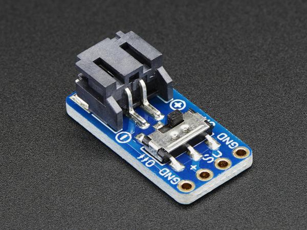 JST-PH 2-Pin SMT  Breakout Board cu Switch 0