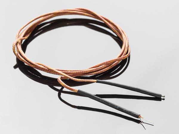Termocuplu Tip-K acoperit cu fibra de sticla 0