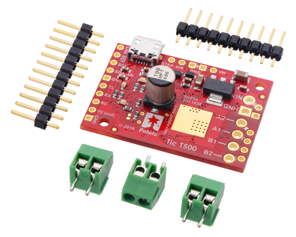 Tic T500 USB Multi-Interface Stepper Motor Controller 0