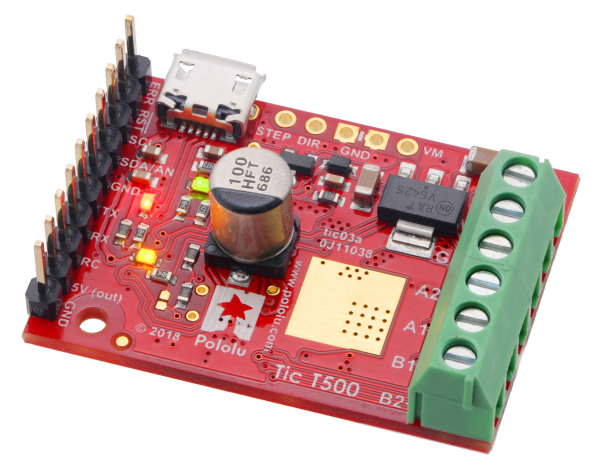 Tic T500 USB Multi-Interface Stepper Motor Controller 1