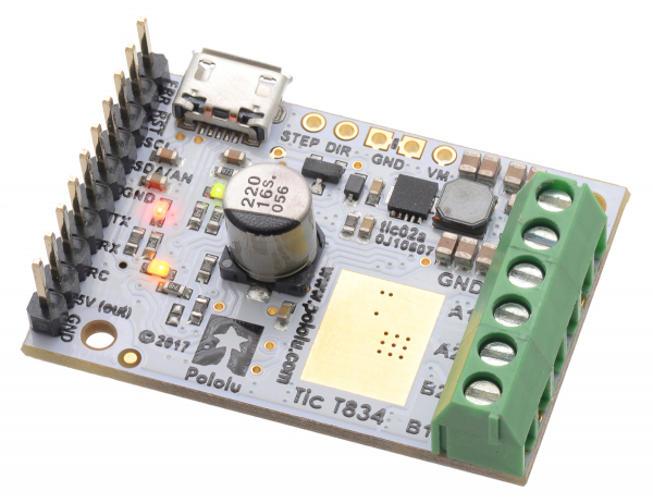 Tic T834 USB Multi-Interface Stepper Motor Controller 1