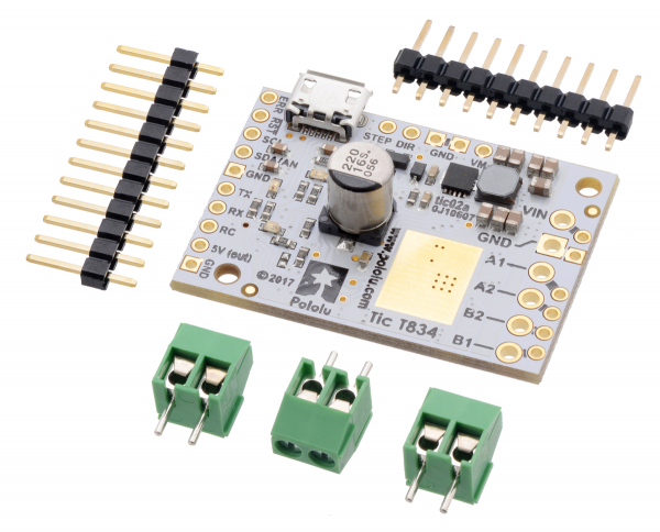 Tic T834 USB Multi-Interface Stepper Motor Controller 0