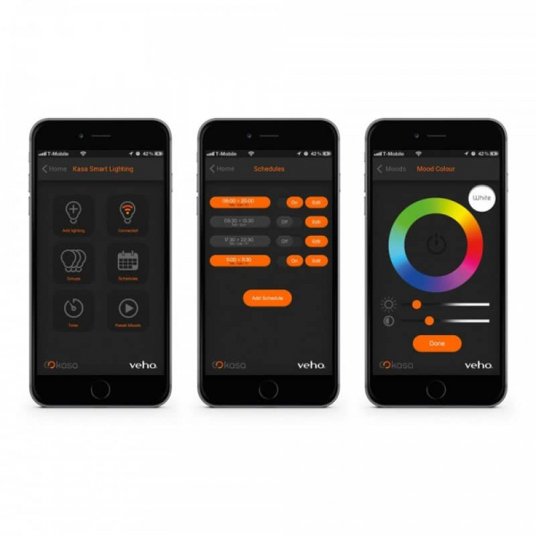 Bec inteligent LED cu Bluetooth Veho Kasa - lumina RGB [3]