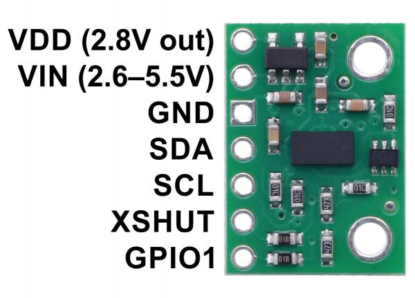 Senzor de distanta VL53L0X  200cm Max 4