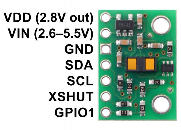 Senzor de distanta VL53L1X  ToF si regulator de tensiune, max 4m [3]