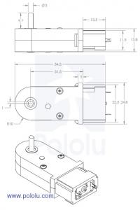 Motor cu cutie de viteze 120:1 tip Pololu2