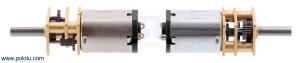 Motor electric micro metal 75:1 HPCB cu ax pentru encoder (Perii De Carbon)1