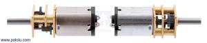 Motor electric micro metal 10:1 HPCB cu ax pentru encoder (Perii De Carbon) [1]