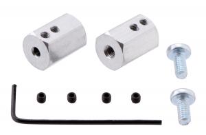Adaptor pentru ax de 4 mm la ax de 12mm hexagonal. Lungime 17 mm [0]