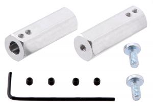 Adaptor pentru ax de 6mm la ax de 12mm. Lungime 35mm0