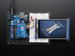 """3.5"""" TFT 320x480 + Touchscreen Breakout Board w/MicroSD Socket - HXD8357D1"""