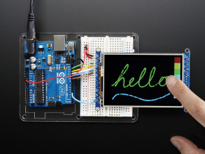 """3.5"""" TFT 320x480 + Touchscreen Breakout Board w/MicroSD Socket - HXD8357D0"""