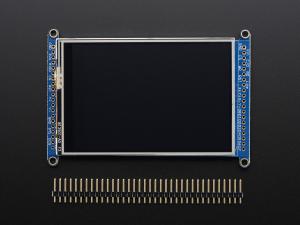 """3.5"""" TFT 320x480 + Touchscreen Breakout Board w/MicroSD Socket - HXD8357D2"""