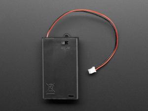 Suport pentru baterii 3xAAA cu switch si clema curea [4]