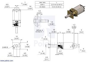 Motor electric micro metal 50:1 HPCB cu ax pentru encoder (Perii De Carbon) [7]