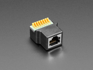 Adaptor priza RJ-45 Ethernet mama la bloc terminal cu arc [0]