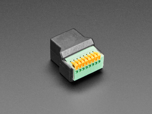 Adaptor priza RJ-45 Ethernet mama la bloc terminal cu arc [1]