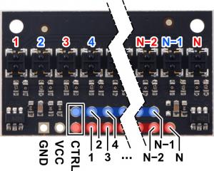 Pololu QTRX-HD-31A bara 31 senzori linie analogici3