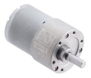 Pololu motor electric 30:1 37Dx52L 12V, pinion elicoidal0