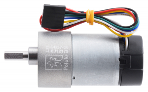 Pololu motor electric metalic, 30:1, 37Dx68L, 12V, pinion elicoidal encoder1