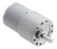 Pololu motor electric metalic 12V, 100:1, 37Dx57L, pinion elicoidal0