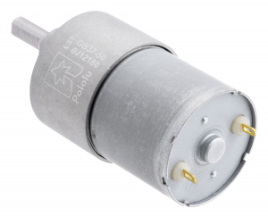 Pololu motor electric metalic 12V, 50:1, 37Dx54L, pinion elicoidal2