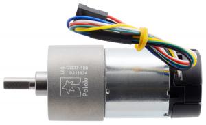 Pololu motor electric metalic 24V, 150:1, 37Dx73L, pinion elicoidal, encoder [1]