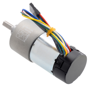 Pololu motor electric metalic 24V, 150:1, 37Dx73L, pinion elicoidal, encoder [2]