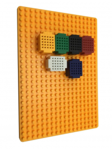 Set 6 placi mini breadboard XF-25 cu placa de baza3