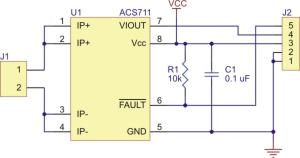 Senzor curent ACS711EX  -31A to +31A5