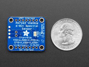 Breakout senzor de lumina/culoare de 6 canale Adafruit AS72623