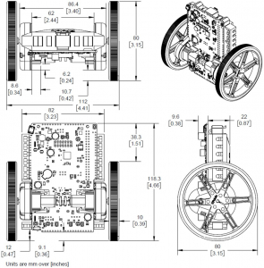 Balboa 32U4 Self Balancing Robot Kit (Fara motoare si fara Roti)11