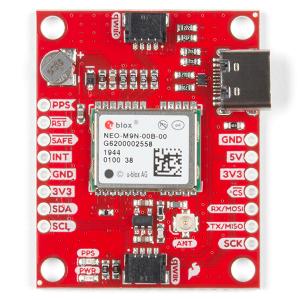 Breakout GPS SparkFun NEO-M9N, U.FL (Qwiic)3