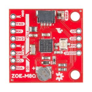 Breakout GPS SparkFun ZOE-M8Q (Qwiic)1