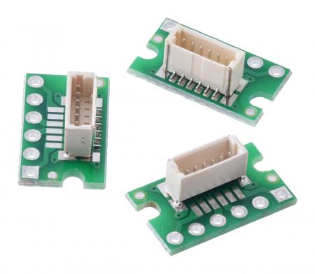 Breakout Pololu conector JST SH, intrare superioara tata cu 6 pini - 3 buc [0]