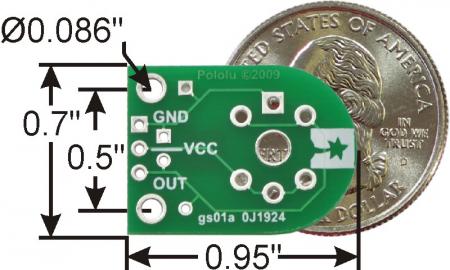 Breakout Pololu pentru senzorii de gaz MQ (doar placa PCB)1