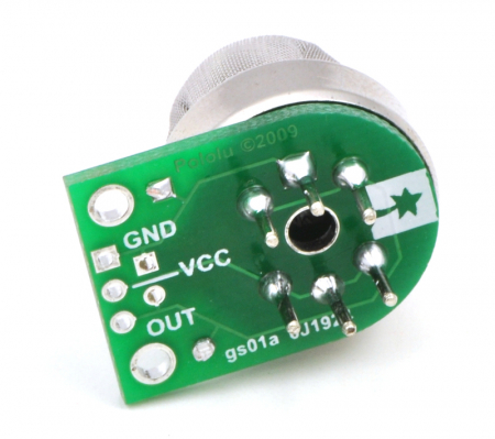 Breakout Pololu pentru senzorii de gaz MQ (doar placa PCB)3