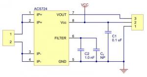 Breakout senzor de curent  ACS724 0A/+30A4