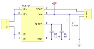 Breakout senzor de curent SparkFun ACS724 -5A/+5A [4]