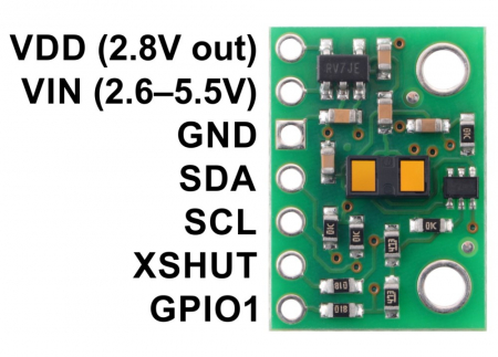 Breakout senzor de distanta Pololu VL53L1X ToF cu stabilizator [2]