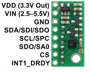 Breakout senzor de presiune/altitudine Pololu LPS25HB cu stabilizator de tensiune [2]